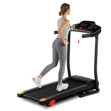 Load image into Gallery viewer, Home folding treadmill, 15 preset programs, with LED display panel, with MP3/USB playback function, black.