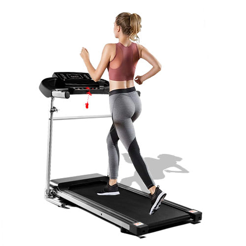 Folding Treadmill, 2.25HP Desktop Electric Treadmill, with LCD Display and Cup Holder, Easy to Assemble, Suitable for Home Office Jogging, Black. by Anwick version