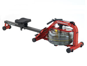 Newport Plus Red Edition Fluid Rower by First Degree Fitness version