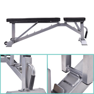 GT Deluxe Utility Weight Bench for Weightlifting and Strength Training Adjustable Sit Up AB Incline Bench Gym Equipment by GT version