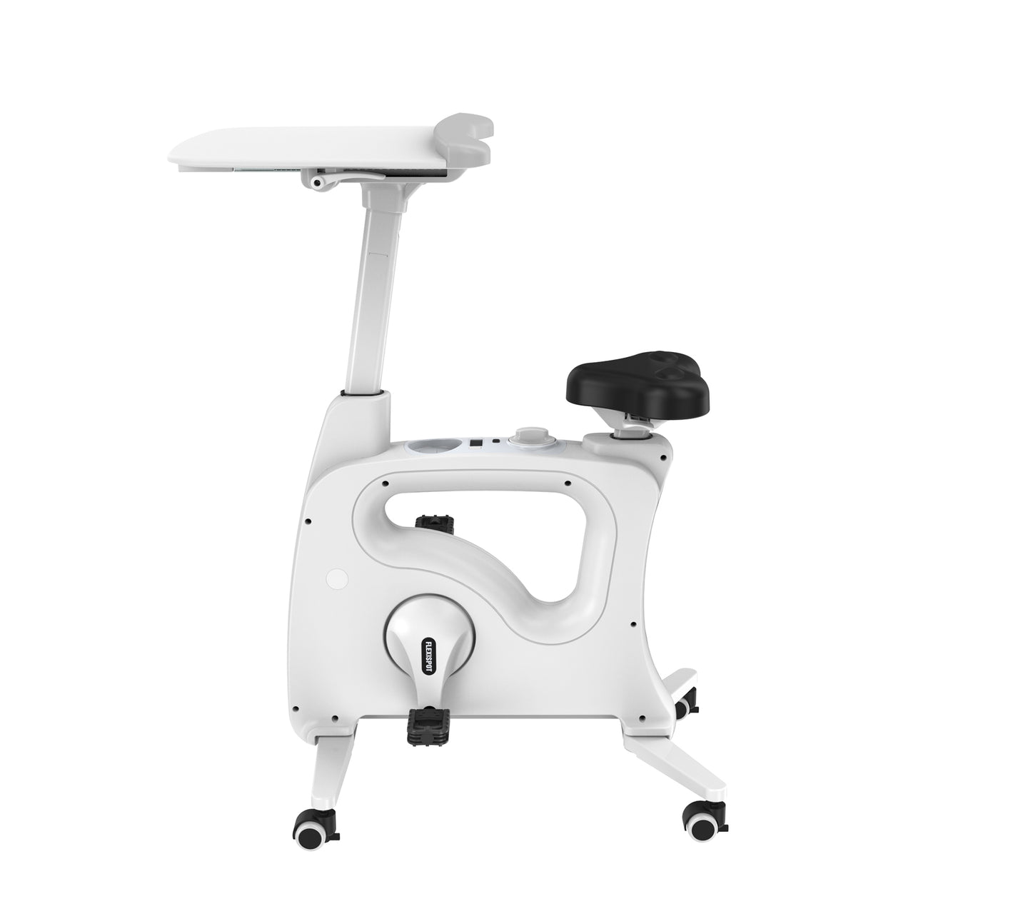 Home Office Height Adjustable Cycle Desk Bike V9/V9B by Flexispot white version