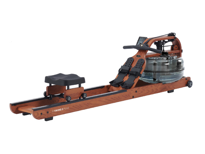 Viking 3 Plus Brown Edition Fluid Rower by First Degree Fitness version