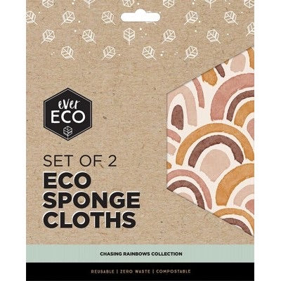 Eco Sponge Cloth - Chasing Rainbows 2Pack