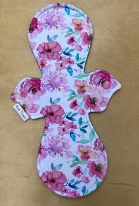 Watercolour Floral Cloth Pad - Heavy