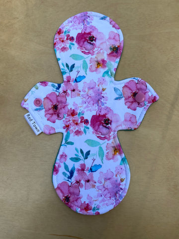 Watercolour Floral Cloth Pad - Moderate