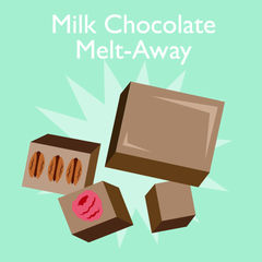 milk chocolate melt-a-way
