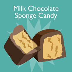 milk chocolate sponge candy