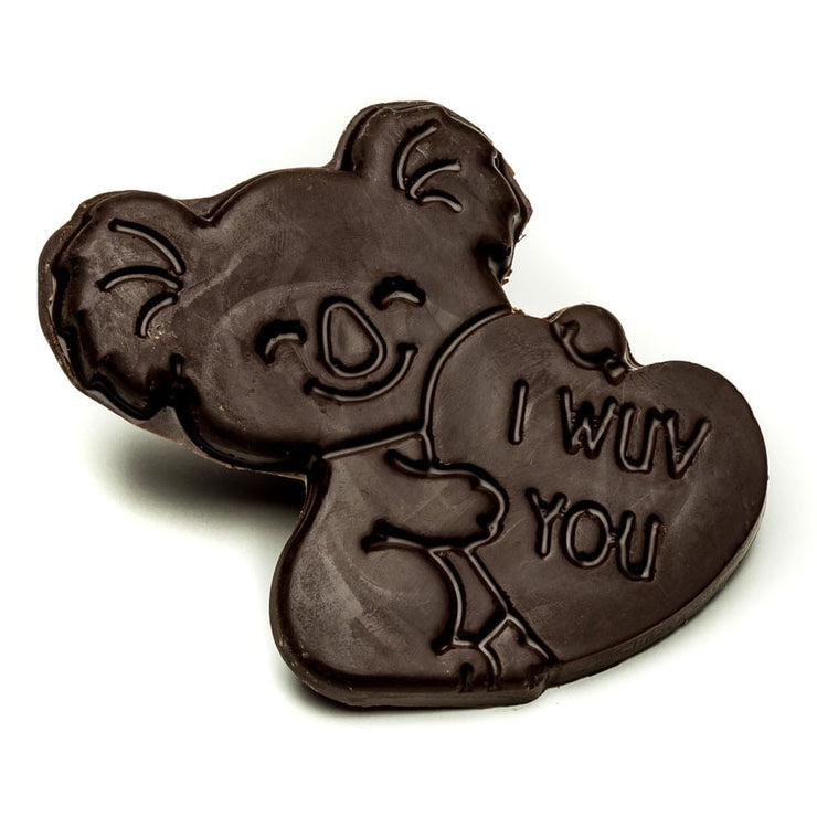 "Dark Chocolate ""I Wuv You"" Koala"