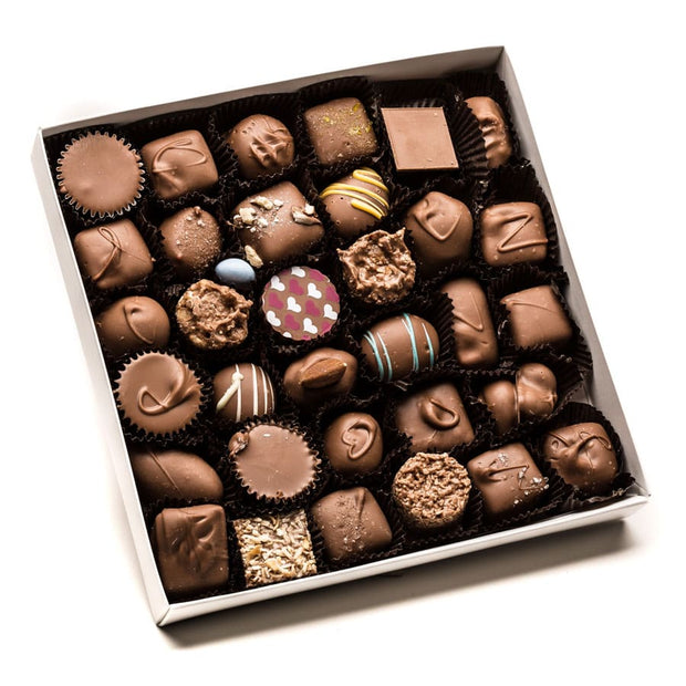 Holiday Assorted Square Box (Asst. Milk Chocolates) - Large 16oz.