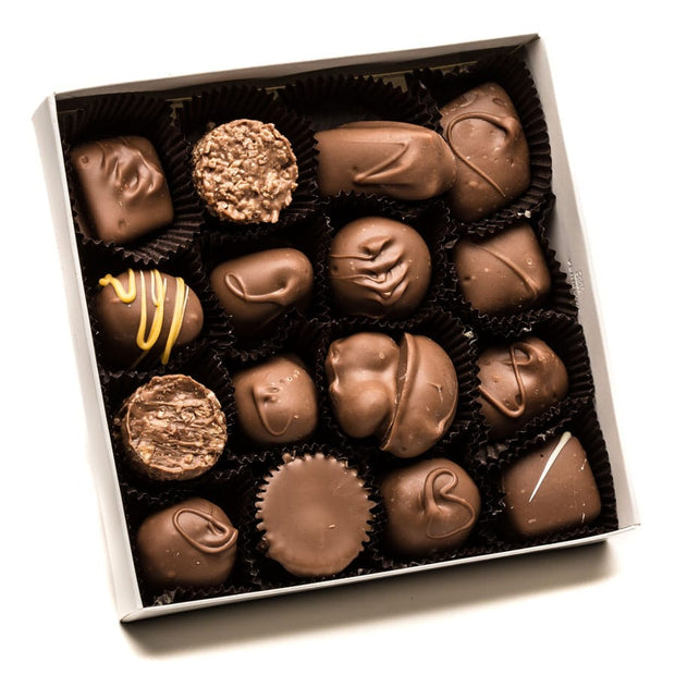 Assorted Holiday Square Box (Asst. Milk Chocolates) - Medium 8oz.