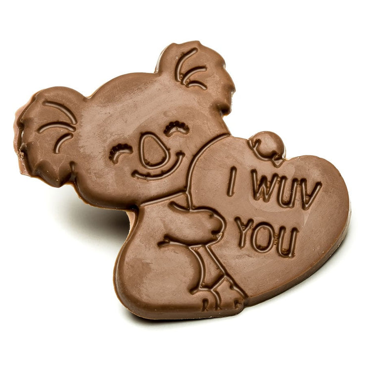 "Milk Chocolate ""I Wuv You"" Koala"