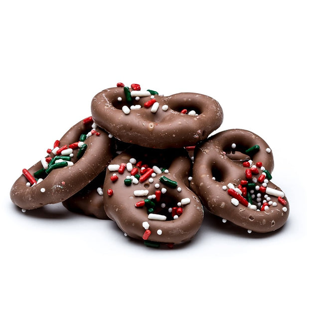 stefanelli's chocolate covered holiday pretzels