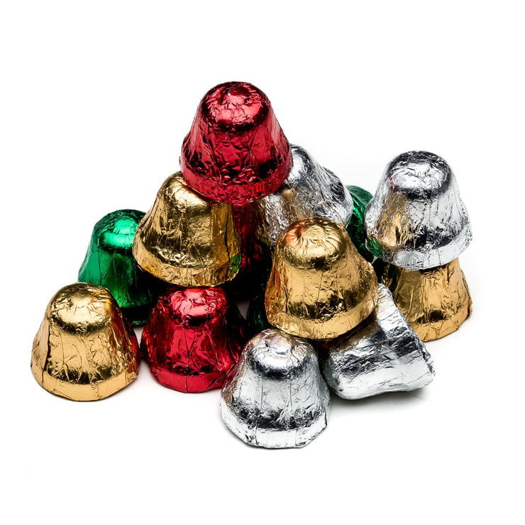 stefanelli's chocolate foil wrapped christmas bells
