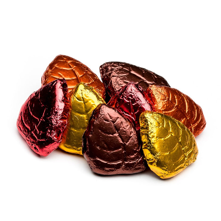 stefanelli's foiled chocolate leaves
