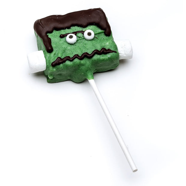 stefanelli's frankenstein rice krispie treat