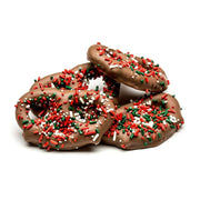 stefanelli's large chocolate covered holiday pretzel