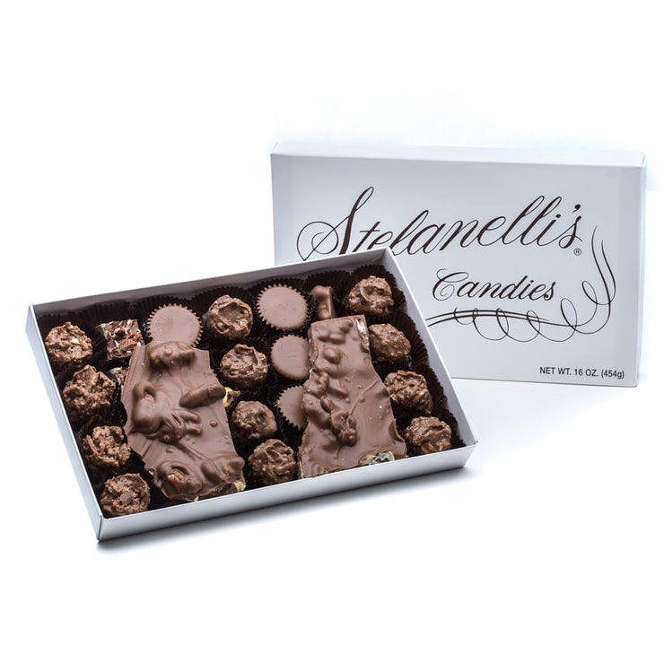 stefanelli's milk chocolate nut assortment