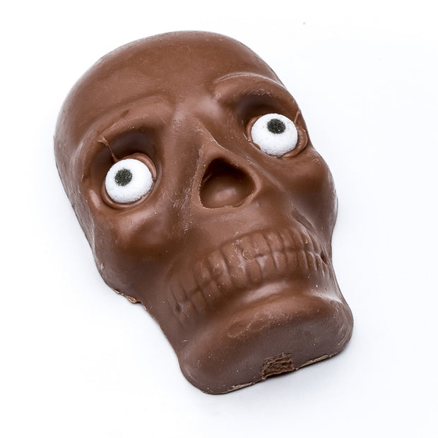 stefanelli's milk chocolate skull with eyes