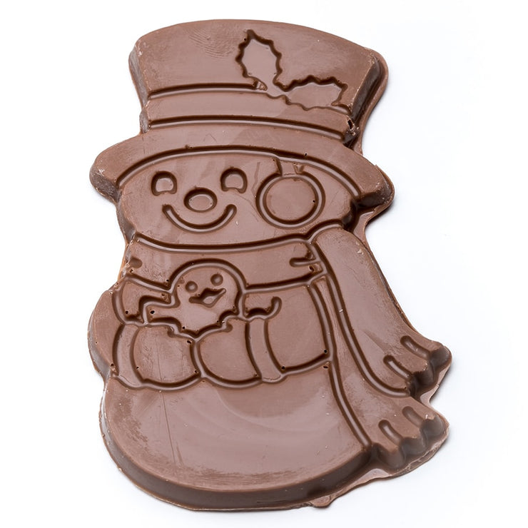 stefanelli's milk chocolate snowman cutouts