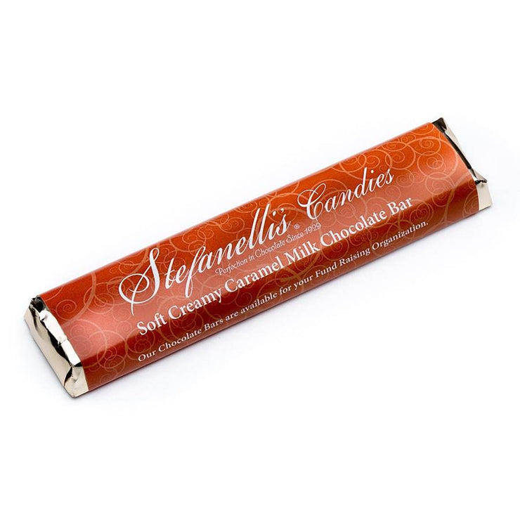 stefanelli's soft creamy caramel milk chocolate bar