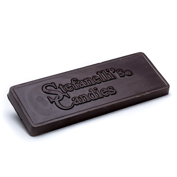 stefanelli's solid dark chocolate candy bar