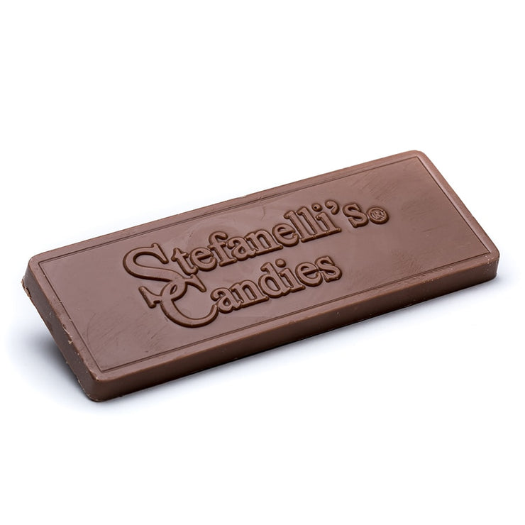 stefanelli's solid milk chocolate candy bar