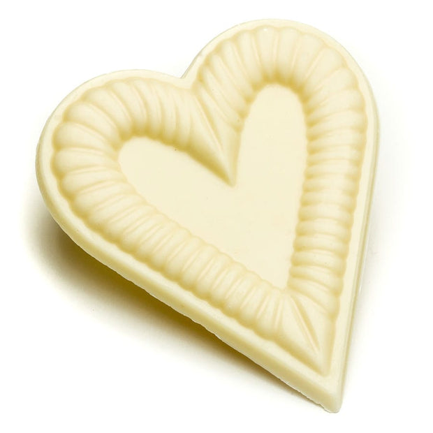 White Chocolate Cookie Cutter Heart