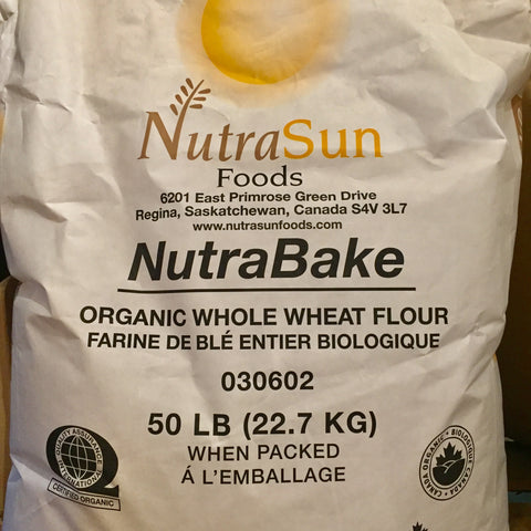 ORGANIC WHOLE WHEAT FLOUR 22.7KG