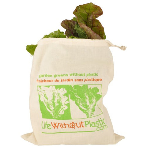 ORGANIC COTTON REUSABLE GREENS BAG
