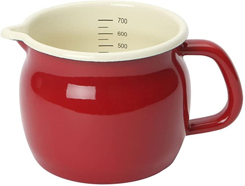 ENAMEL SMALL MEASURING JUG
