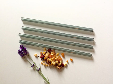 BROOK DRABOT GLASS STRAWS SET