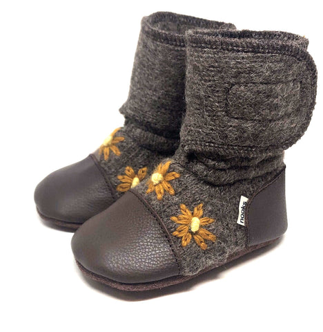 NOOKS SUNFLOWER WOOL BOOTIES