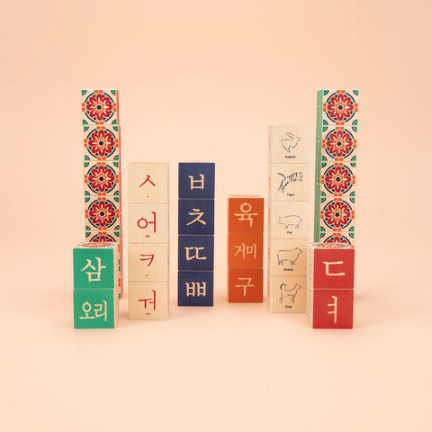 UNCLE GOOSE KOREAN ALPHABET BLOCKS