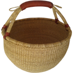 FAIR TRADE NATURAL ROUND BASKET