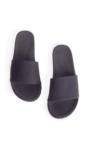 INDOSOLE BLACK SLIDES