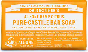 DR. BRONNER'S CITRUS CASTILE BAR SOAP