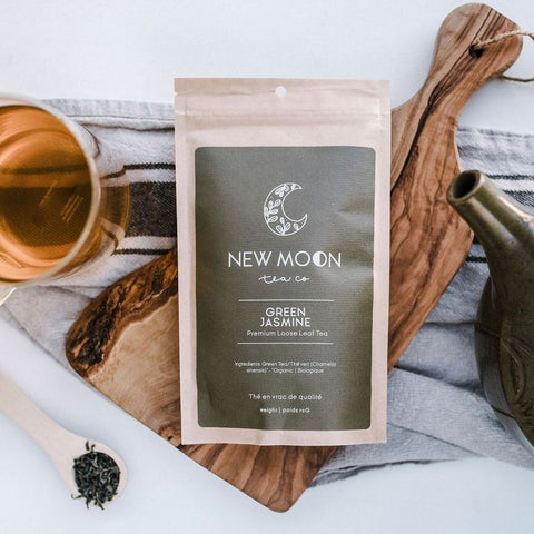 NEW MOON TEA LOOSE LEAF GREEN JASMINE TEA