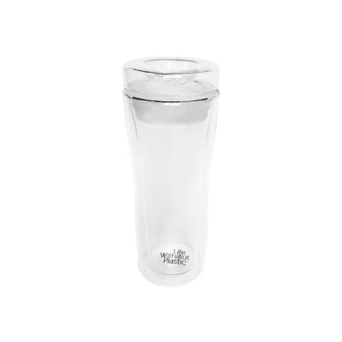 DOUBLE WALL REUSABLE GLASS TRAVEL MUG