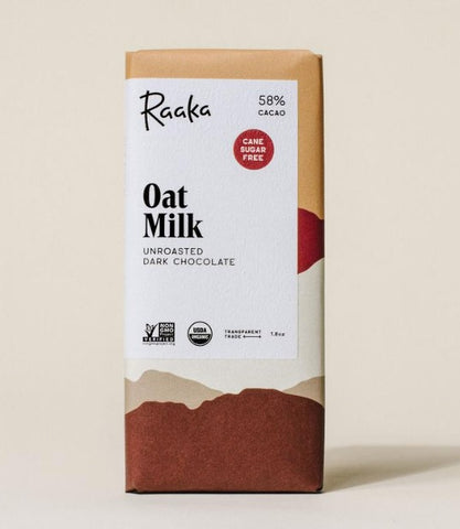 OAT MILK UNROASTED DARK CHOCOLATE