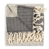 LINED DIAMOND HAND TOWEL