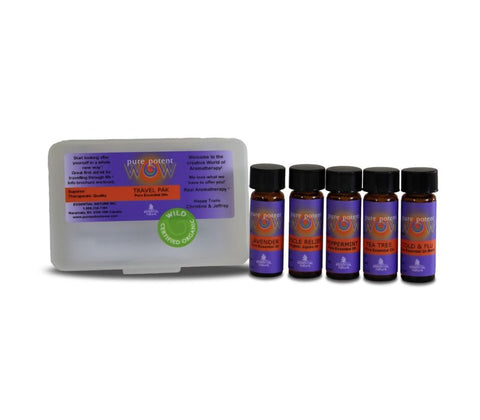 pure potent WOW ESSENTIAL OIL TRAVEL PAK