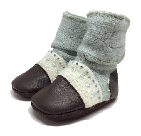 NOOKS SEA GLASS WOOL BOOTIES