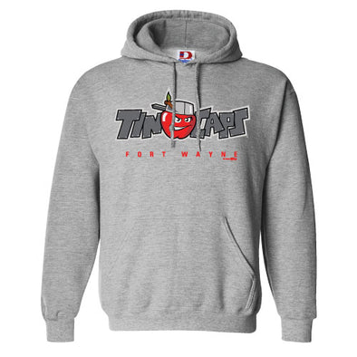 Gray Official Logo Hoodie