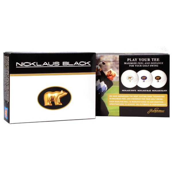 Nicklaus Black Golf Balls - 1 Dozen