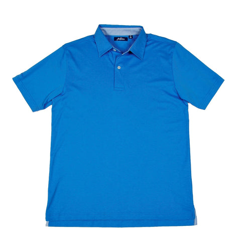 Ultra Cotton Solid Interlock Golf Polo Shirt - Blue