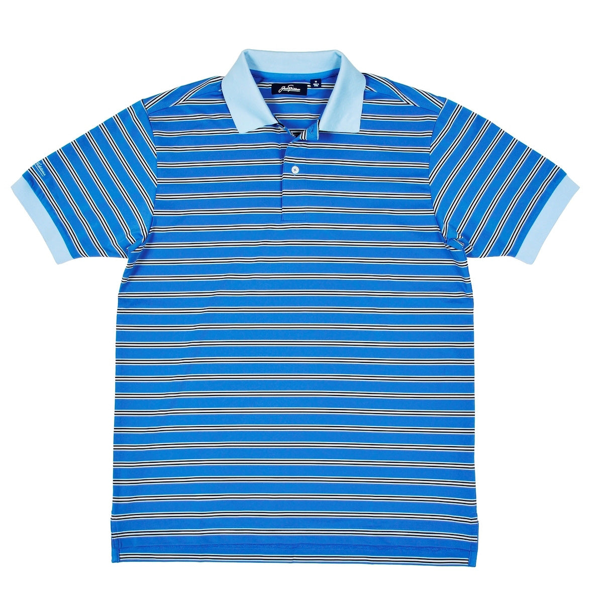 Dry Range Regimental Stripe Golf Polo Shirt - Blue