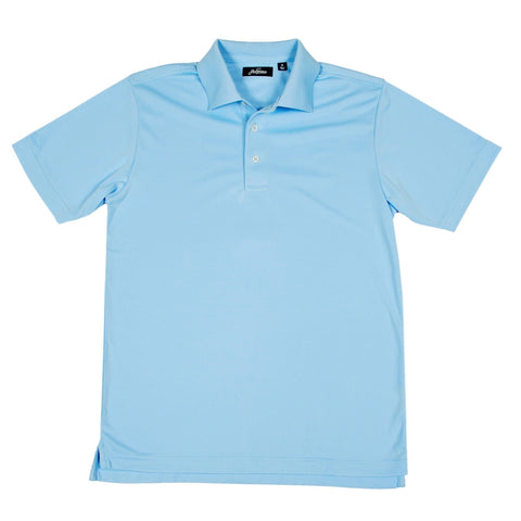 Cool Plus Solid Golf Polo Shirt - Light Blue