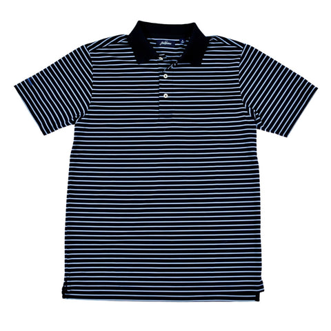 Cool Plus Prep Stripe Golf Polo Shirt - Blue