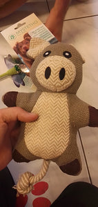 Plush pig with rope tail - mystetho