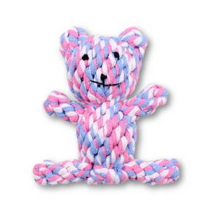 Multicolored teddy bear in rope - mystetho